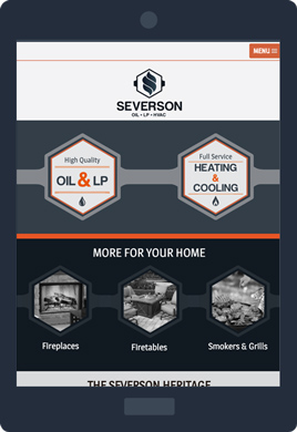 Severson Oil website on a tablet