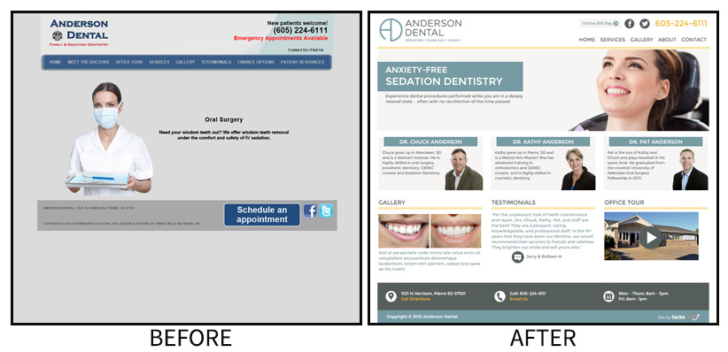 Anderson Dental new look and website launched by Factor 360