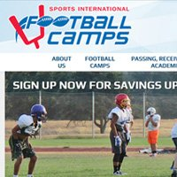 Sports International Football Camps website