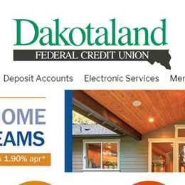 Dakotaland Federal Credit Union website
